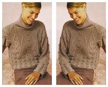 Digital Download PDF Vintage Knitting Pattern Women's Ladies Sweater Jumper Pullover 37-41'' Merino